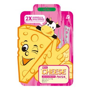 МАСКА ТКАНЕВАЯ, МАСКА ТКАНЕВАЯ С ПРОБИОТИКОМ, ВЫРАВНИВАЮЩАЯ ТОН КОЖИ И УВЛАЖНЯЮЩАЯ MJ CARE Real Cheese Brightening & Moisturizing Mask