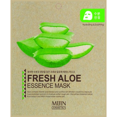 ТКАНЕВАЯ МАСКА С ЭКСТРАКТОМ АЛОЕ ВЕРА Mijin Fresh Aloe Essence Mask