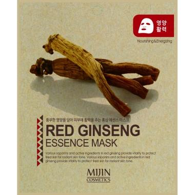 ТКАНЕВАЯ МАСКА КРАСНЫЙ ЖЕНЬШЕНЬ Mijin Red Ginseng Essence Mask