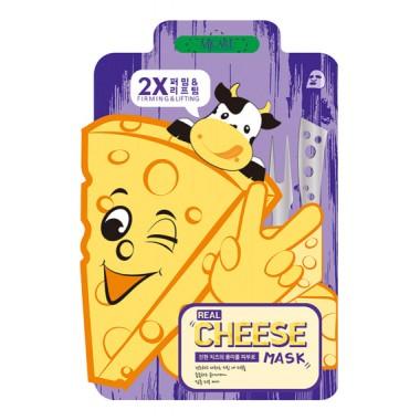 МАСКА ТКАНЕВАЯ С ПРОБИОТИКОМ, УКРЕПЛЯЮЩАЯ И ПОДТЯГИВАЮЩАЯ MJ CARE Real Cheese Firming & Lifting Mask