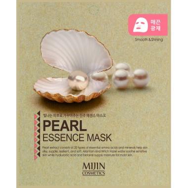 ТКАНЕВАЯ МАСКА С ЭКСТРАКТОМ ЖЕМЧУГА Mijin Pearl Essence Mask